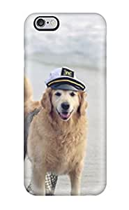 Protection Case For Iphone 6 Plus / Case Cover For Iphone(a Dog With Sailor Hat On The Beach)
