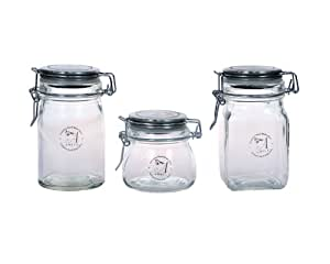 Amici Mini Glass Storage Jars - Set of 3