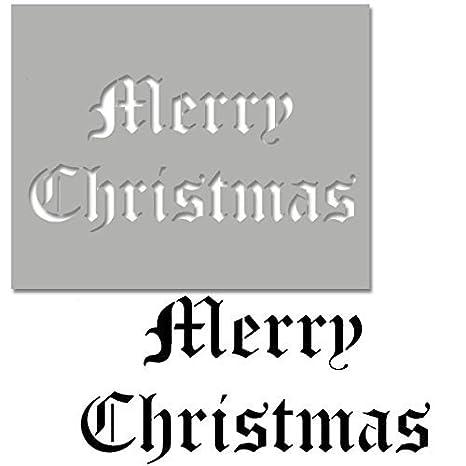 Buon Natale Stampo Old English Vintage Fonte Artistica Artigianale