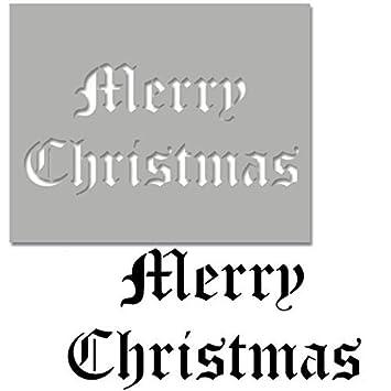 Frohe Weihnachten Schablone.Frohe Weihnachten Schablone Altenglische Vintage Schriftart