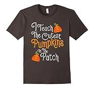 Funny Halloween Shirt For Teachers With Pumpkins