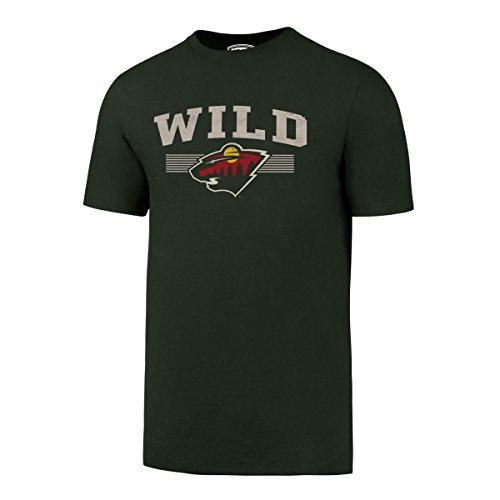 fan products of NHL Minnesota Wild Men's OTS Rival Distressed Tee, Dark Green, Medium