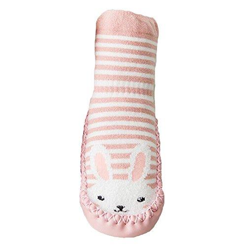 32eab25cfe19f hibote Cartoon Toddler Enfants Bébé Anti-dérapant Sock Chaussures Bottes  Pantoufle Chaussettes pour 0-