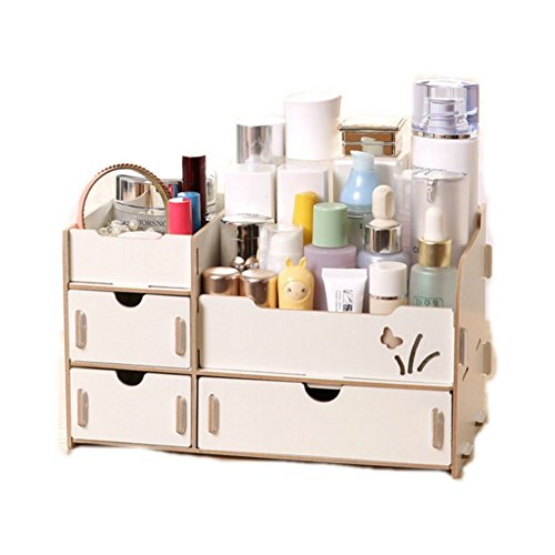 DIY Wooden Home Office Desk Drawer & Makeup Storage Cosmetic Organizer Console Box (Makeup Console compare prices)