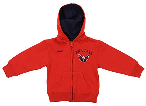 NHL Toddler's Washington Capitals Pledge Full Zip Hoodie, Red 4T