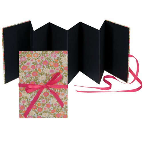 Books By Hand BBHK113-8 Accordion Photo Album, Pink - Accordion Photo