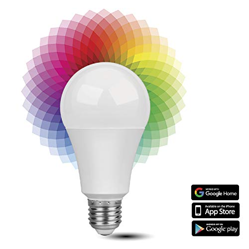 TNP Smart WiFi LED Light Bulb - Wireless Multicolored Home Automation Lighting Support Amazon Echo Alexa Google Home iPhone & Android Smartphone Remote Control Wake Up Timer Dimmable 7W RGB E27 600lm