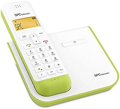 SPC 7232V - Teléfono (DECT, Verde, Color blanco, Tone/Pulse, Digital, DEU, DUT, ENG, ESP, ENG, ITA, POR): Amazon.es: Electrónica