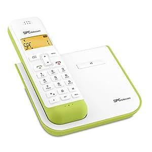 SPC 7232V - Teléfono (DECT, Verde, Color blanco, Tone/Pulse, Digital, DEU, DUT, ENG, ESP, ENG, ITA, POR)