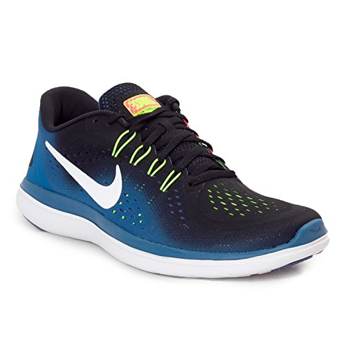 Nike Men's Free Rn Sense Running Fitness Shoes Black White Industrial Blue 003 RioFnqs