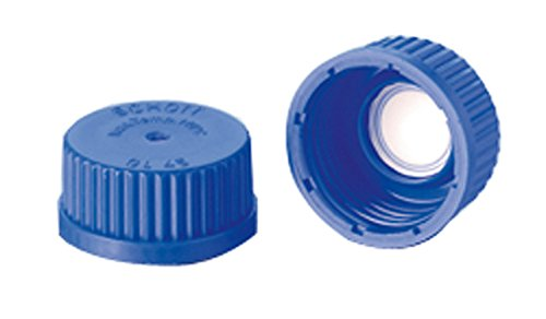 DURAN 10 886 55 Membrane Screw Cap from PP¹, blue with welded-in PTFE¹ Membrane for Pressure Equalisation, GL 45 (Pack of 5) blue with welded-in PTFE¹ Membrane for Pressure Equalisation