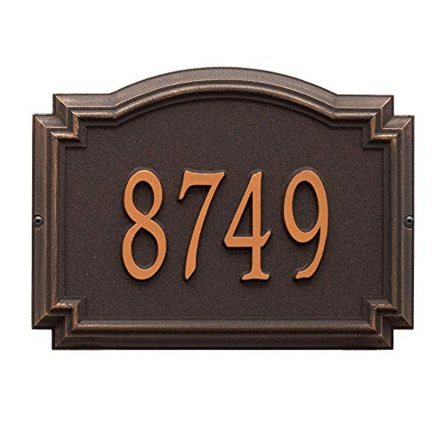 (Whitehall Products Customized 1 Line Williamsburg Wall Aluminum Address Plaque 14