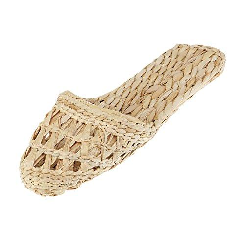 Magideal Pantofole Di Bambù Per Sandali Naturale Donna Paio Fatti Paglia Mano Uomo A Rattan wXqEUXr