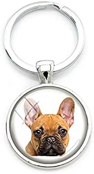 Bulldogge Beiswin Franz/ösisch Bulldog Anh/änger Schl/üsselanh/änger Cartoon Hund Tasche Auto Keychain Schl/üsselanh/änger Halter f/ür Frauen M/änner