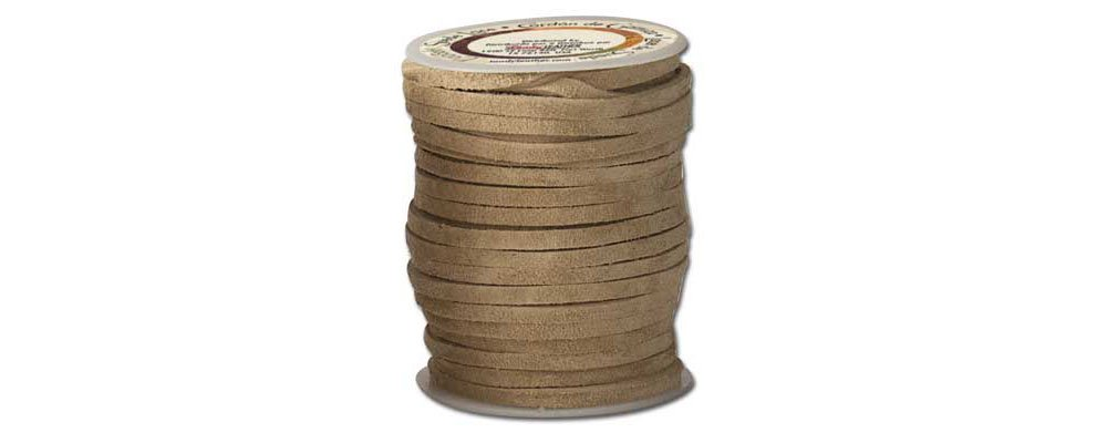 Tandy Leather Ecosoft� Suede Lace 1/8'' x 50 ft. (3 mm x 15.2 m) Beige 5081-05