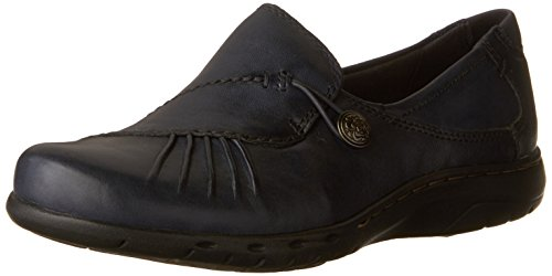 (Rockport Cobb Hill Women's Paulette Flat, Navy, 8 N US)