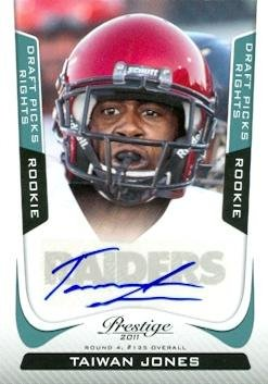 info for f9db7 1bdc7 Taiwan Jones autographed Football Card (Eastern Washington ...