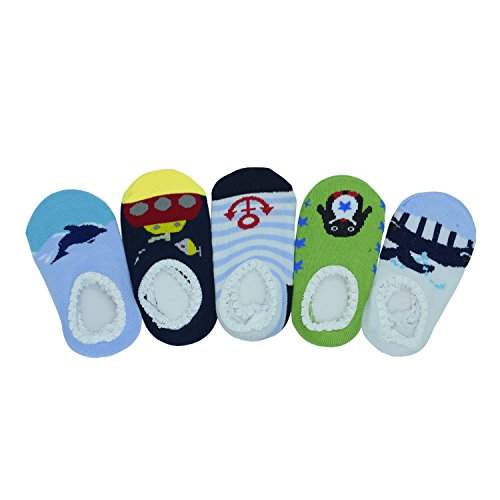 CXP Good Goods 5 pairs Cute Baby Ankle Cotton Toddler Stripes Anti Slip Skid Baby Socks for 8-36 Month