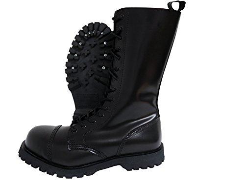 - Boots & Braces England Men´s 14 Eye Black Steel Toe Rangers (9UK / 10US / 43EU Mens)
