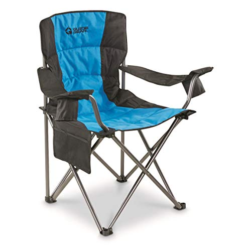 Guide Gear Oversized King Camp Chair, 500 lb. Capacity, Blue, Blue