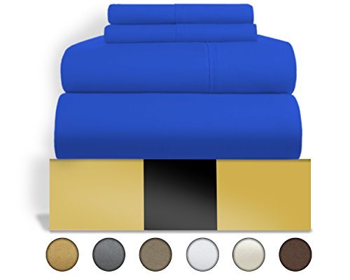 Set Bedding Brands (Urban Hut Egyptian Cotton Sheets Set (4 Piece) 800 Thread Count - Bedspread Deep Pocket Premium Bedding Set, Luxury Bed Sheets for Hotel Collection Soft Sateen Weave (Queen, Royal Blue))
