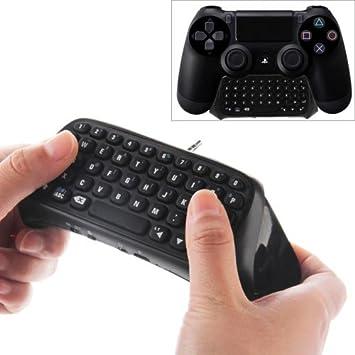Teclado Bluetooth 3.0 compatible con mandos de PS4 negro: Amazon.es: Electrónica