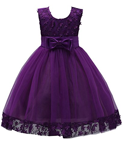KISSOURBABY Princess Girls Performance Ruffles Splicing Dress Kids