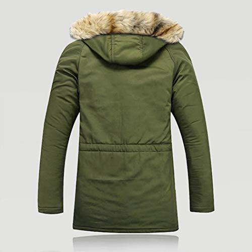 Fieece Outwear BHYDRY Fur Wool Jacket Coat Solid Warm Outdoor Hood Hoodie Long Men Women Unisex Winter Green fqfY4