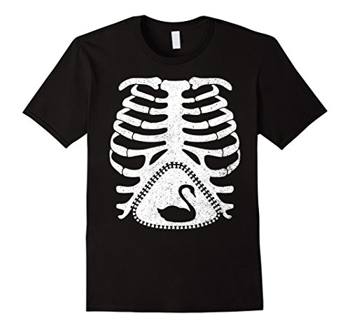 Easy Black Swan Halloween Costume (Mens Skeleton Maternity SWAN Funny T-Shirt Medium Black)