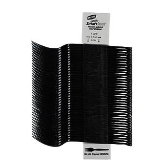 """SmartStock SSF51 6.5"""" Length, Black Color, Plastic Polystyrene Fork Refill (24 Packs of 40)"""