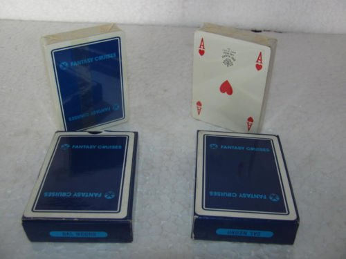 2 Packs of Dal Neg Ro Italy Poker Playing Card : Blue by Indian Handicrafts Export