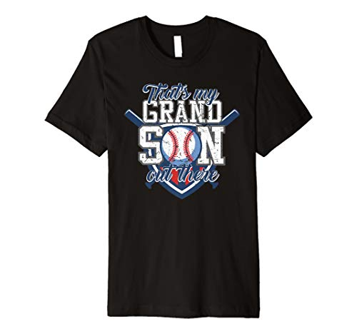 That's My Grandson Out There Baseball Grandparents Tee Gift