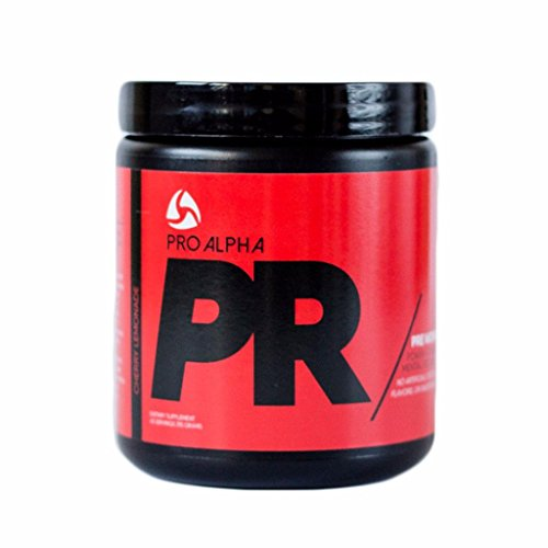 Pro Alpha PR pre workout. No artificial colors, sweeteners or flavors. Natural caffeine from green tea and green coffee bean!