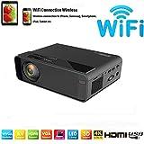 SOTEFE®Mini LED Projector Portable/WiFi Vidéoprojecteur 1080P Full HD-WiFi Video Projectors 7000 Lumen For