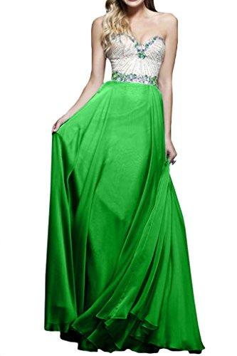 Promkleid Festkleider A Ausschnitt Ivydressing Linie Strass Grün Damen Abendkleid Herz nTW6qx10Y