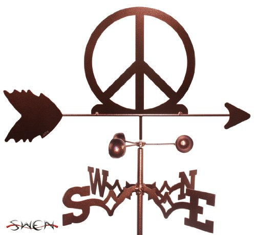 Hand Made WOODSTOCK PEACE SIGN SYMBOL GARDEN Stake Weathervane ~NEW~
