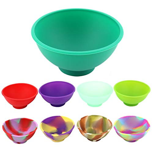 - Kingro 9-Pack Mini Silicone Pinch Bowls, 1.75 Ounce Prep & Serve Bowls, Multi-color