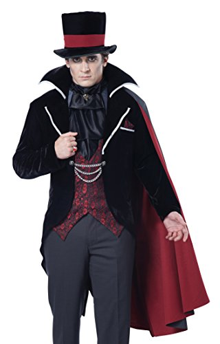 California Costumes Men's Immortal Vampire Groom Costume, Black/Red -