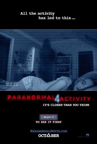 Paranormal Activity 4 Poster ( 27 x 40 - 69cm x 102cm ) (2012) by Decorative Wall Poster