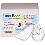Luna Bean Infant Plaster Statue Casting Keepsake Kit - Cast Baby Hand & Foot (Clear Glaze)