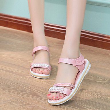 LvYuan Tacón Plano-Confort-Sandalias-Vestido Informal-Tela-Multicolor Pink