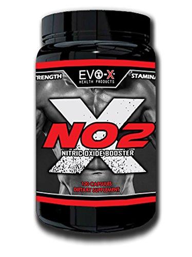 NO2-X (120 Capsules): supplément Preworkout Booster d'oxyde nitrique #1, pompe & L-Arginine ! Augmenter la force, augmenter la masse musculaire, récupération rapide. Forte Dose, ingrédients de première qualité ! Soutenu par EVO-X 100 % Platinum garant