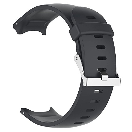 (Finedayqi ❤ Replacement Silicagel Soft Band Strap for Garmin Approach S3 GPS Watch (Black) )