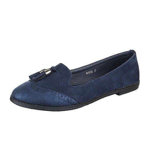 Ital-Design - Zapatillas de casa Mujer azul oscuro