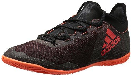 adidas Performance Boys' X Tango 17.3 In J Soccer Shoe, Black/Solar Red/Solar Orange, 1 Medium US Little Kid