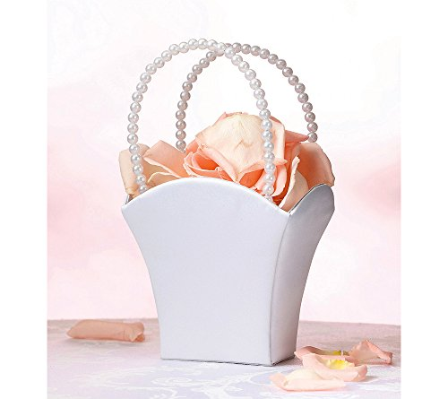 Lillian Rose White Satin Flower Basket