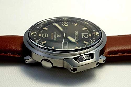 SEIKO Prospex Automatic 20 Bar Land Series Compass Brown Leather Sports Watch SRPD31K1