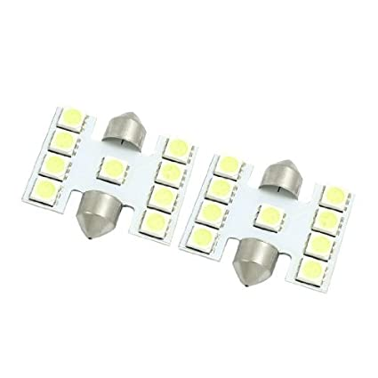 Amazon.com: eDealMax 31mm 5050 9 SMD Blanca Adorno de luz LED bombilla de la lámpara Interior de la bóveda DE 2 PC: Automotive