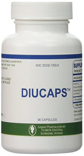 Diucaps - 90 Capsules - Appetite Suppresant / Inhibitor -- L-PHENYLALANINE, VITAMIN C, (B6), Pantothenic Acid by Legere