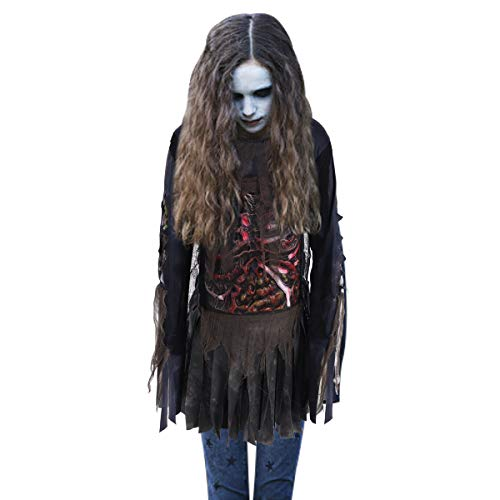Zombie Teen Costume (LAOSSC Halloween Costume for Girls-Large 12-14,Scary Zombie Costumes for Halloween Party - Zombie Child)